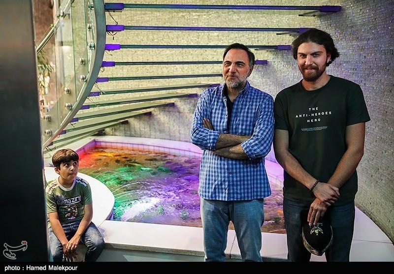 حسن فتحی و پسرش امیرحسین فتحی در آیین نکوداشتهای نوزدهمین جشن سینمای ایران