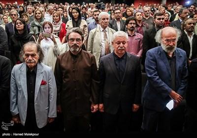 کیانوش عیاری، محمدحسن خوشنویس، حسین علیزاده و سیروس ابراهیمزاده در آیین نکوداشتهای نوزدهمین جشن سینمای ایران