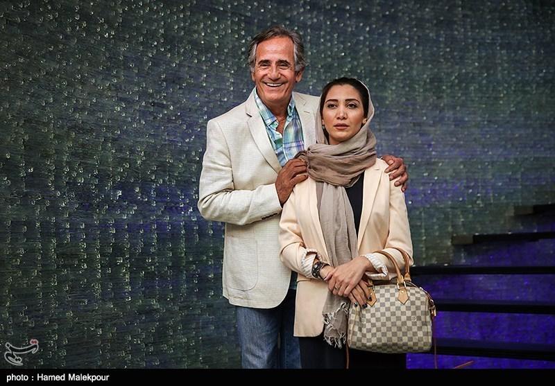 مجید مظفری و دخترش نیکی مظفری در آیین نکوداشتهای نوزدهمین جشن سینمای ایران