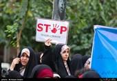 اعتراض دانشجویان به نسلکشی مسلمانان میانمار با تجمع مقابل دفتر سازمان ملل در تهران + تصاویر و متن بیانیه