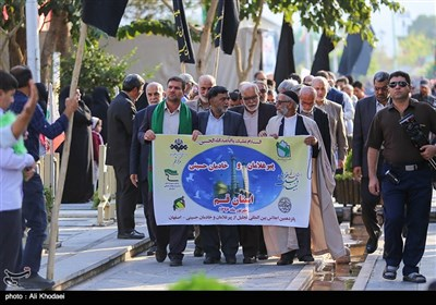 همنوایی پیرغلامان سراسر ایران و جهان در گلستان شهدای اصفهان