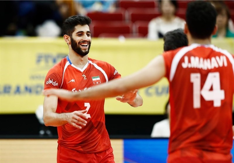 والیبال ایران آمریکا میلاد عبادی
