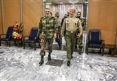 وزیر دفاع و فرمانده نیروی هوافضای سپاه با سرلشکر موسوی دیدار کردند + تصاویر