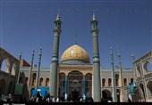 آستان مقدس علی ابن محمدباقر در مشهد اردهال کاشان غبارروبی میشود