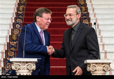 Parliament Speakers from Iran, Belgium Meet in Tehran