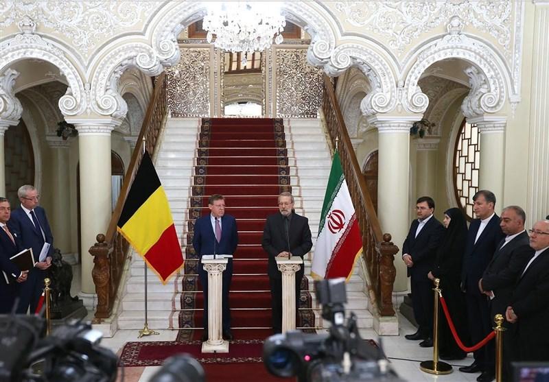 لاریجانی و بلژیک