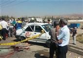 تصادف مرگبار پراید در جاده خاوران+ تصاویر