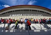 پرچم اتلتیکو در افتتاح ورزشگاه جدیدش وارونه برافراشته شد + تصویر