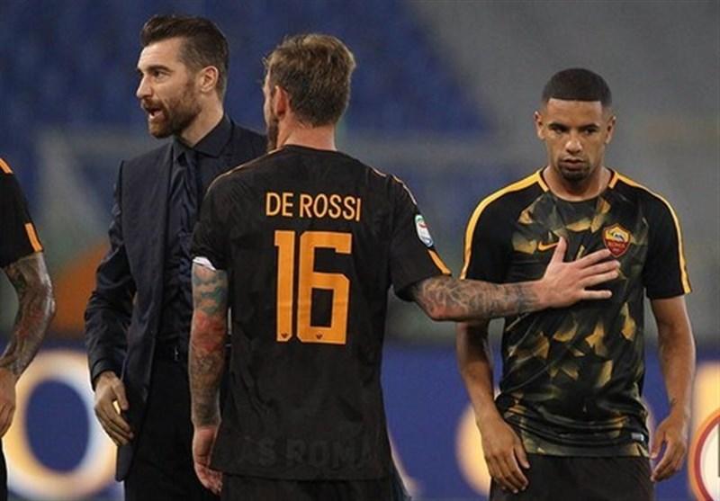 درگیری فیزیکی دو بازیکن رم پس از پیروزی مقابل هلاس ورونا + عکس