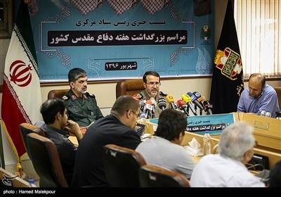 نشست خبری سردار بهمن کارگر رئیس ستاد مرکزی بزرگداشت هفته دفاع مقدس