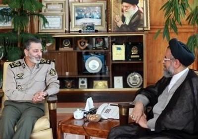 وزیر اطلاعات با فرمانده کل ارتش دیدار کرد