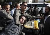 پلیس رژیم صهیونیستی به خاخامها هم رحم نکرد + فیلم و عکس