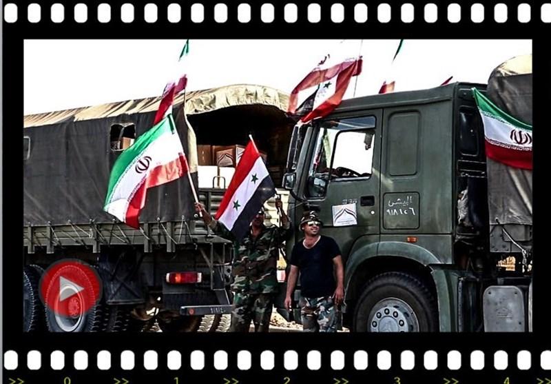 الجمهوریة الإٍسلامیة ترسل ألف طن من المساعدات إلى أهالی دیر الزور +فیدیو وصور