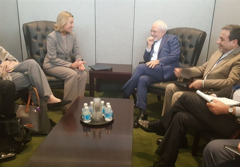 Iran's Zarif, EU's Mogherini Discuss JCPOA Implementation