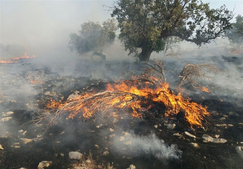 آتشسوزی در کرمانشاه