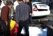 مرگ راننده تیبا بر اثر تصادف با کرکره مغازه در خیابان خزانه بخارایی