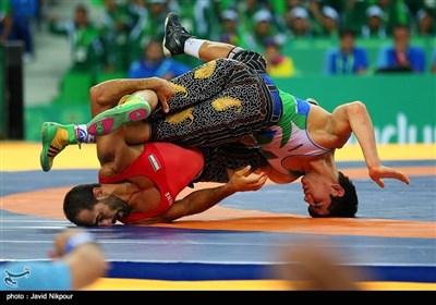 مسابقات کشتی قزاق و پهلوانی بازیهای داخل سالن آسیا - ترکمنستان