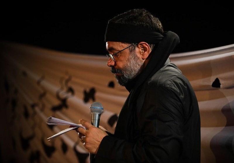 مداحی «محمود کریمی» در ظهر روز عاشورا + فیلم