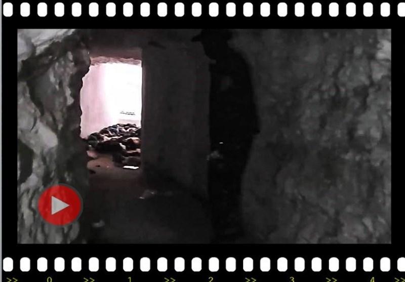 ویڈیو/ حماہ میں داعش کے جدیدترین اسلحے سے بھری سرنگ دریافت