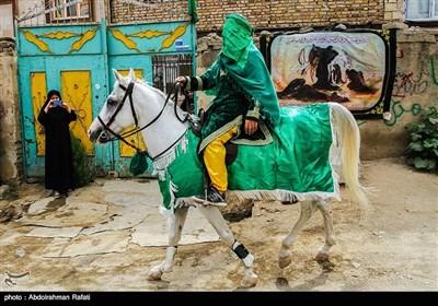 حرکت نمادین ورود کاروان امام حسین (ع) به کربلا - همدان
