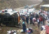 علت واژگونی اتوبوس در گردنه حیران از زبان پلیس