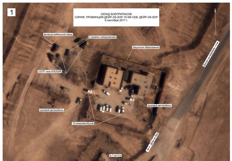 روسیه: تجهیزات نظامی تروریستها نزدیک پایگاه آمریکا در سوریه مستقر شدهاند
