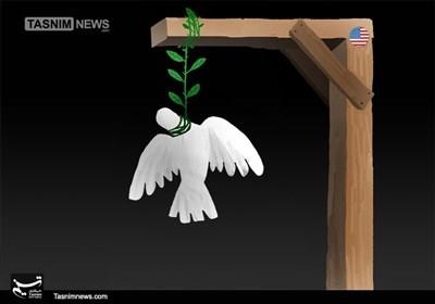 کاریکاتور/ کبوتر صلح، قربانی جنگی!!!