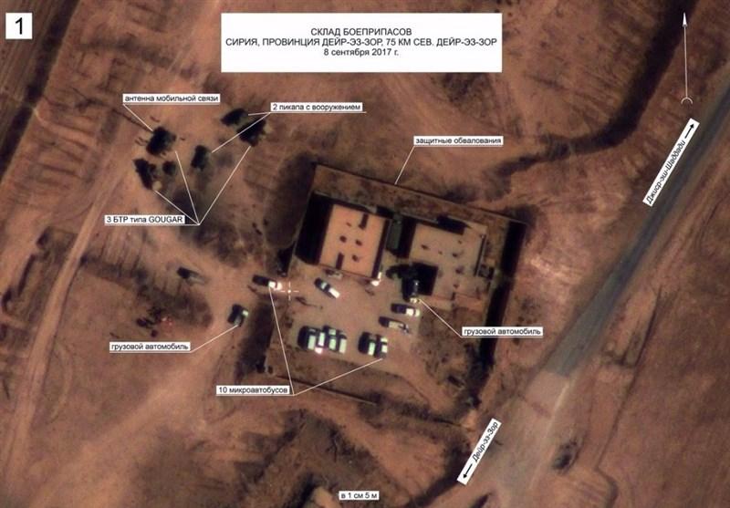 الدفاع الروسیة تنشر صوراً تثبت تواطؤ القوات الأمیرکیة مع داعش