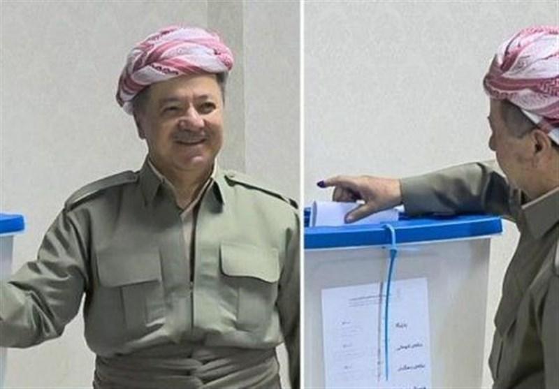مسعود بارزانی صندوق رای رفراندوم کردستان عراق