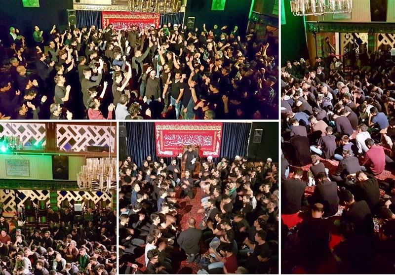 فیلم گزیدهای از عزاداری شب هفتم محرم الحرام در مرکز اسلامی هامبورگ