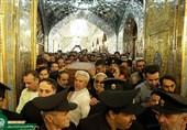 زیارت وداع شهید حججی در حرم منور رضوی برگزار شد+فیلم