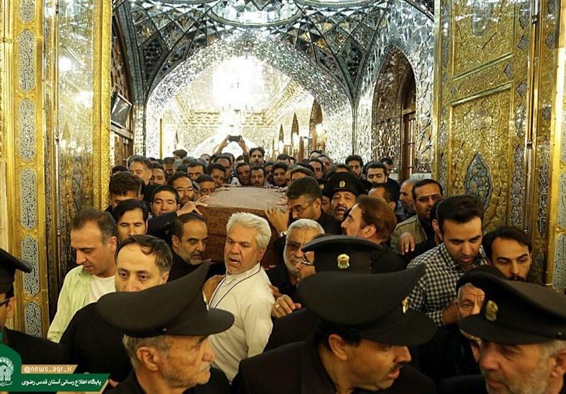 تشییع جثمان الشهید حججی فی مرقد الامام علی بن موسى الرضا (ع)