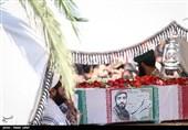 حضور جالب فتاح در تشییع شهید حججی + عکس