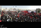 حضور با شکوه مردم تهران در مراسم تشییع شهید حججی +فیلم و تصاویر
