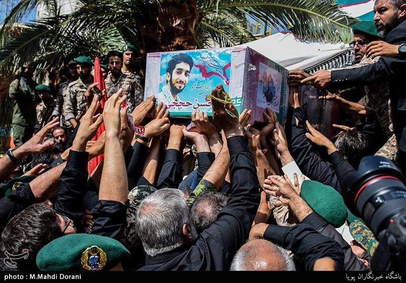 قدردانی سپاه از حضور حماسی مردم در مراسم تشییع شهید حججی
