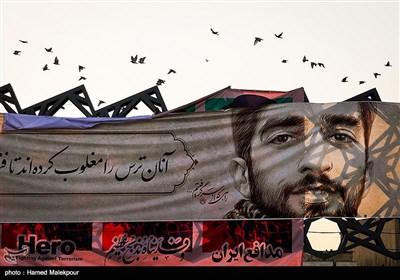 تشیع الشهید محسن حججی بحضور کبار مسؤولی البلاد