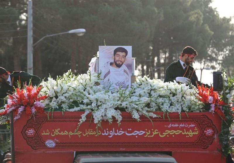 """استقبال با شکوه اصفهانیها از پیکر پاک شهید """"حججی"""""""