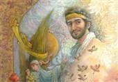 تابلوی فاخر شهید حججی در میدان امام(ره) اصفهان رونمایی شد