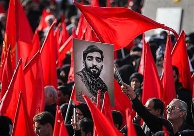 تشییع پیکر مطهر شهید محسن حججی در تهران