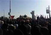 پیکر شهید حججی وارد میدان بسیج نجفآباد شد