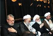 رئیس مجلس در عزاداری امام حسین(ع) در قم شرکت کرد