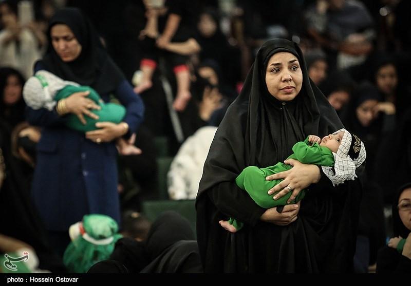 همایش شیرخوارگان حسینی در مسجد امیرالمؤمنین علی(ع) کرمانشاه برگزار شد