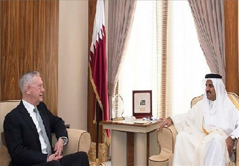 امیر قطر و وزیر دفاع آمریکا در پایگاه «العدید» دیدار کردند