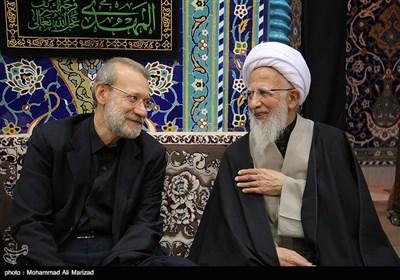 حضور رئیس مجلس شورای اسلامی درعزاداری موسسه اسرا