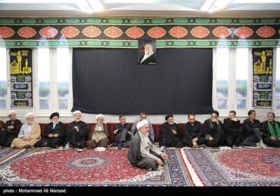 حضور رئیس مجلس شورای اسلامی درعزاداری بیت مرحوم آیت الله موسوی اردبیلی
