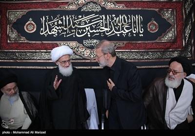 حضور رئیس مجلس شورای اسلامی درعزاداری بیت آیت الله نوری همدانی