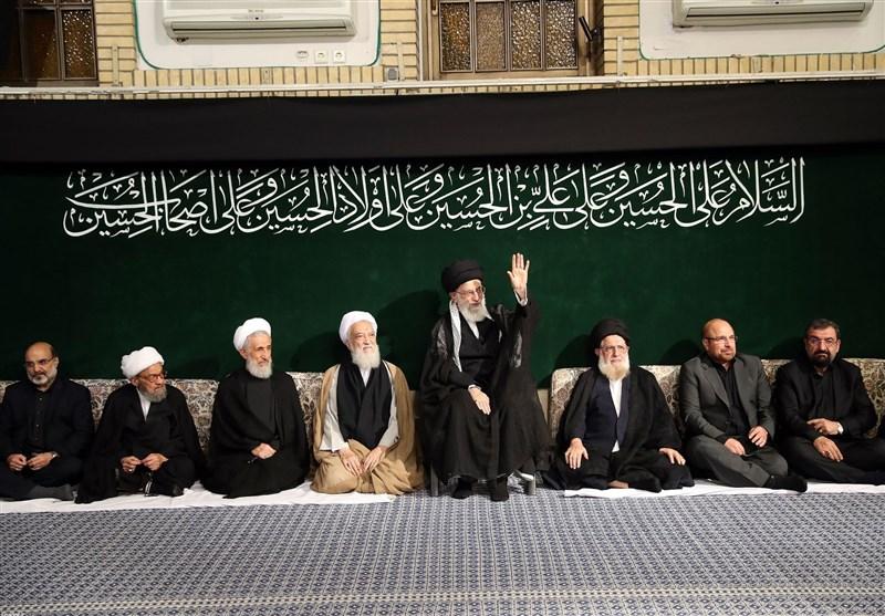 اقامة مراسم العزاء الحسینی بحضور سماحة قائد الثورة الاسلامیة