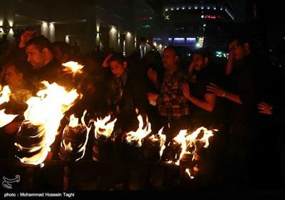 مراسم مشعل گردانی حسینیه نجفی ها - مشهد