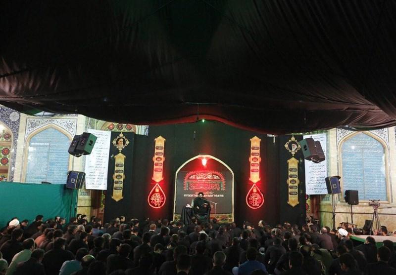 مراسم عزاداری سیدالشهدا در مسجد مقدس جمکران به روایت تصویر