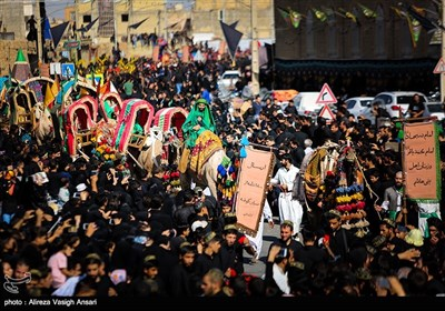 کاروان نمادین ورود به کربلا در خمینی شهر